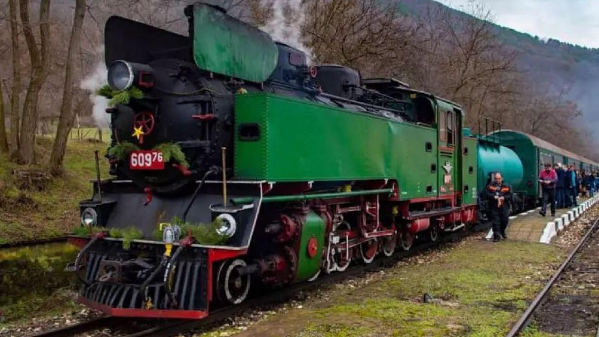 Атракционен тур с парен локомотив по теснолинейката Септември-Велинград