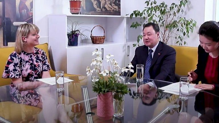 Разговор с политическия съветник на Н.П. посланика на КНР Ян