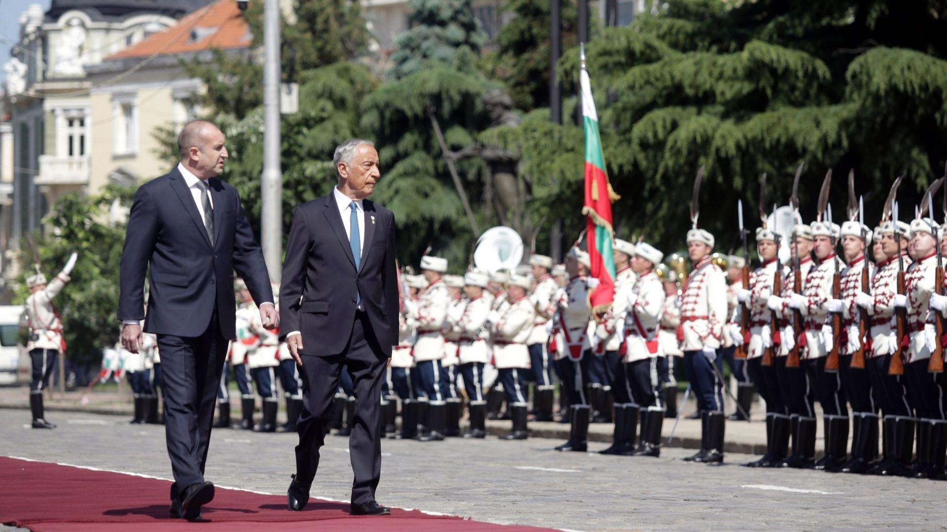 Португалският президент на визита у нас по покана на Румен Радев (снимки)