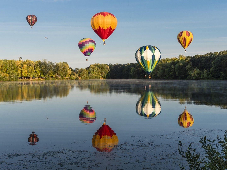 Балони над езерото Фриуей, САЩ