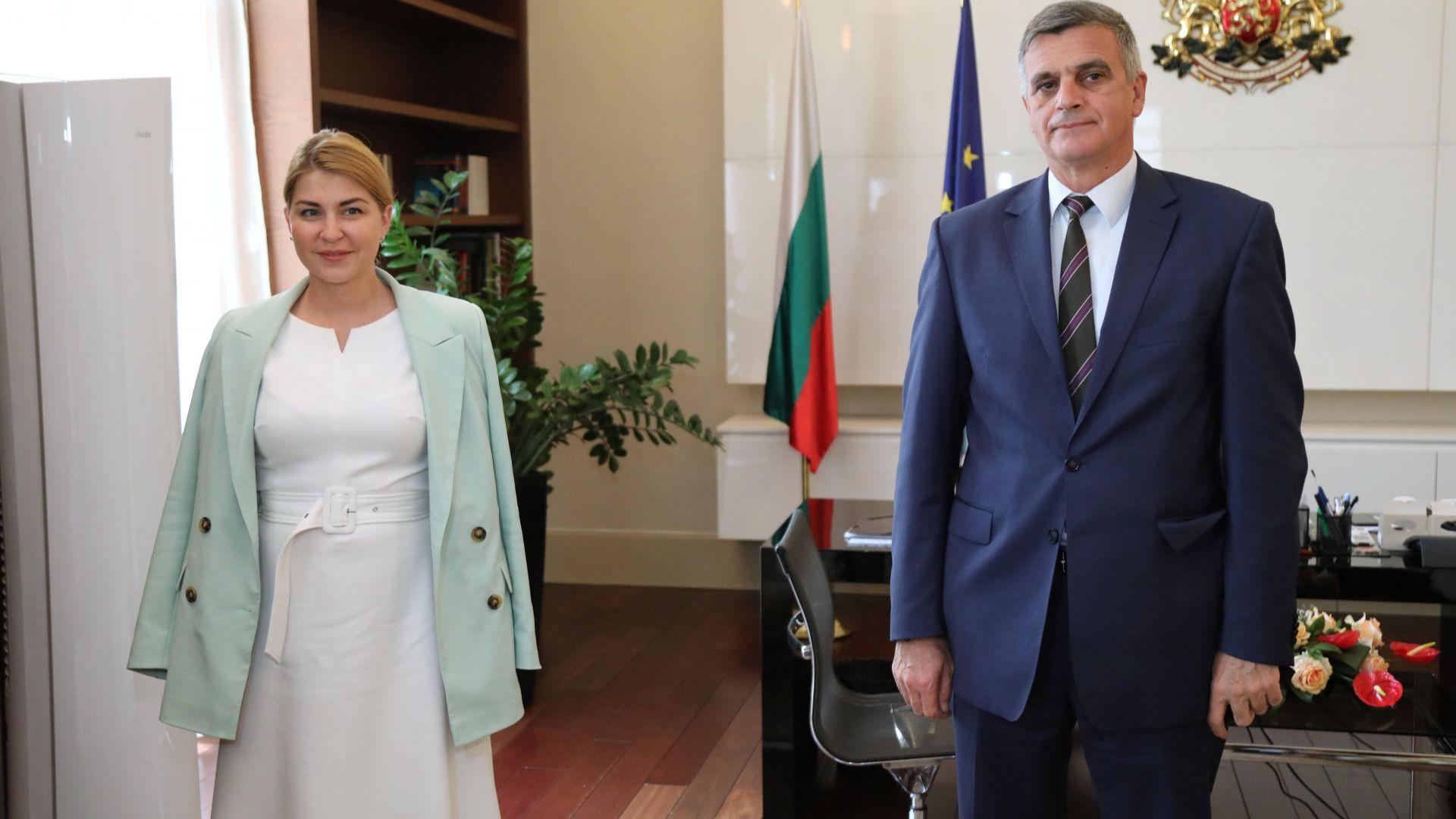 Стефан Янев се срещна със заместник-министър председателя на Украйна