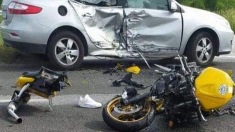 25-годишен мотоциклетист е с опасност за живота след тежка катастрофа