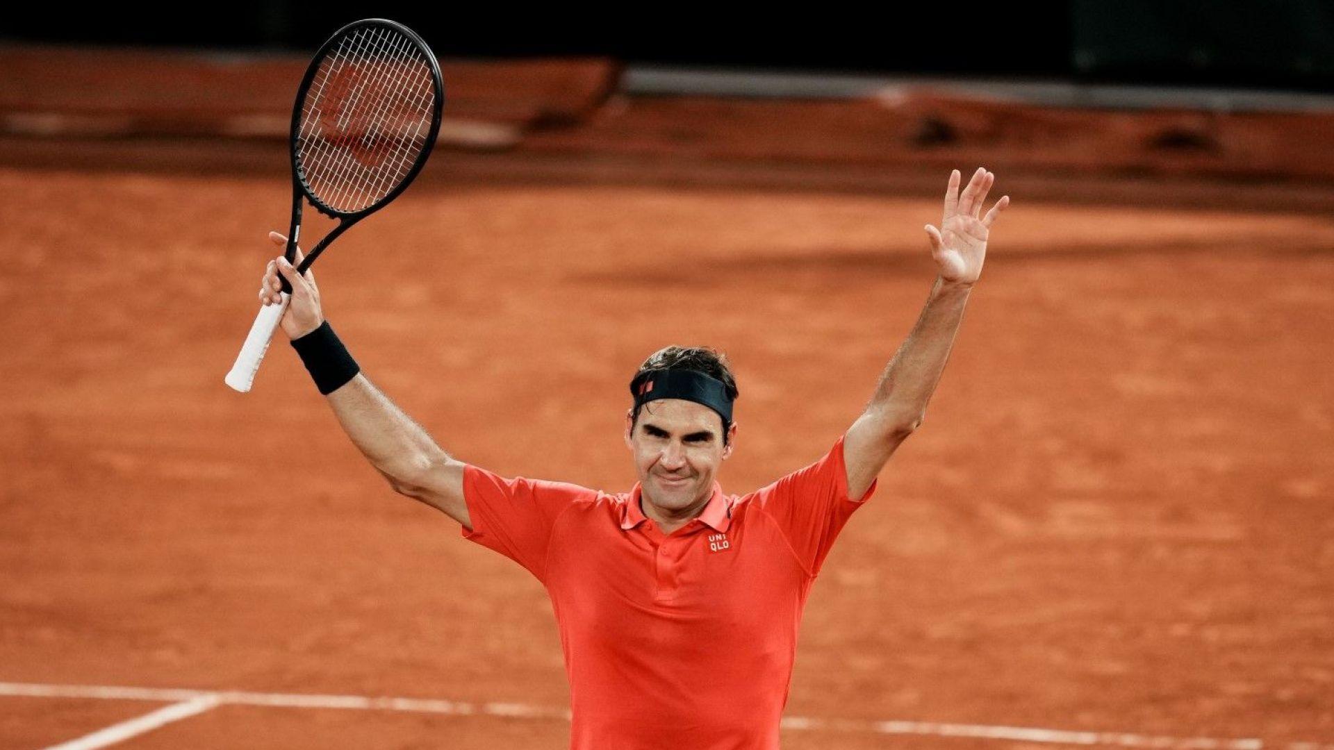 """Федерер се би на корта дълго след полунощ и шокира - може да се оттегли от """"Ролан Гарос"""""""