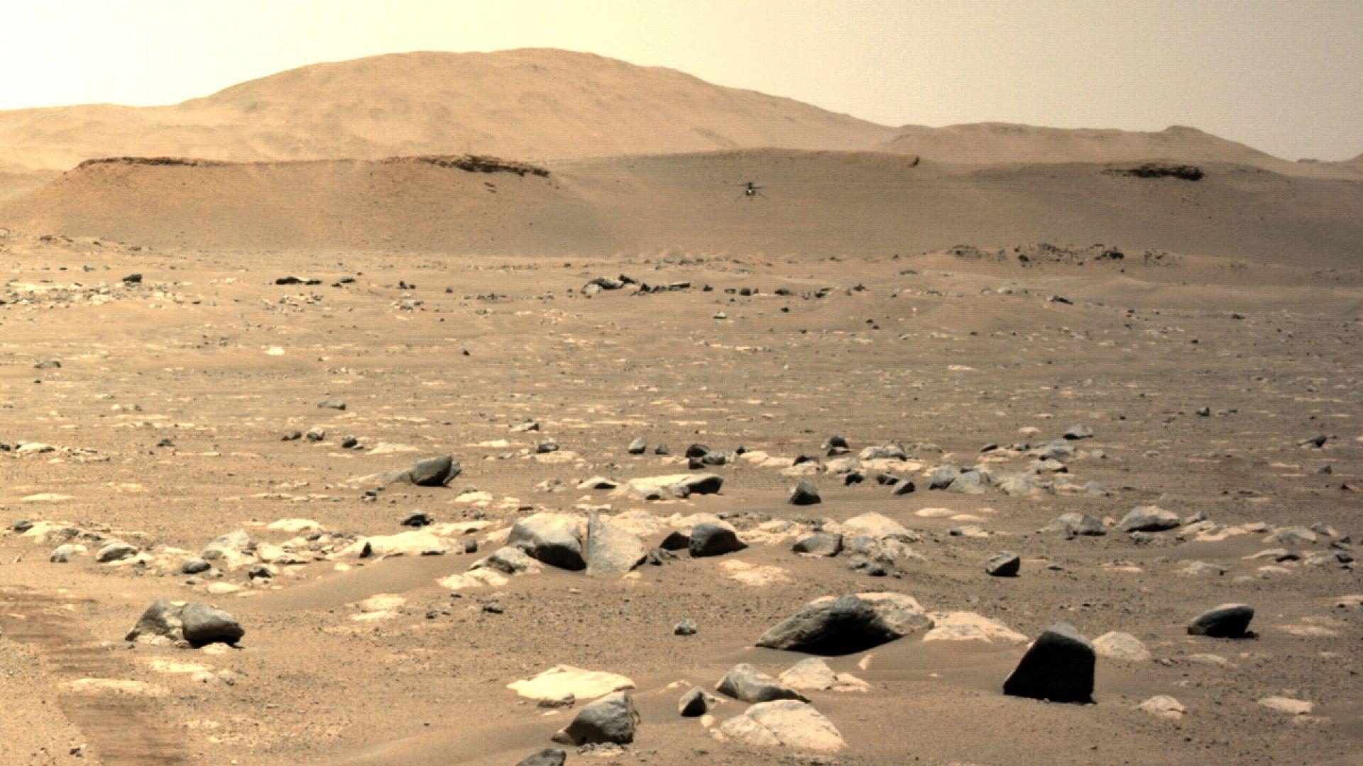 """Хеликоптерът """"Инджинюъти""""  е прелетял почти километър  на Марс"""