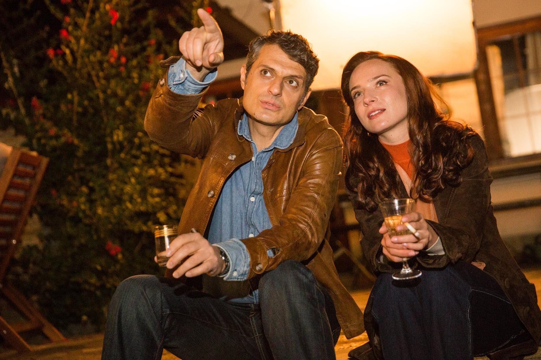 Велислав с актрисата Джулия Бочева, която играе Ани Лиянова