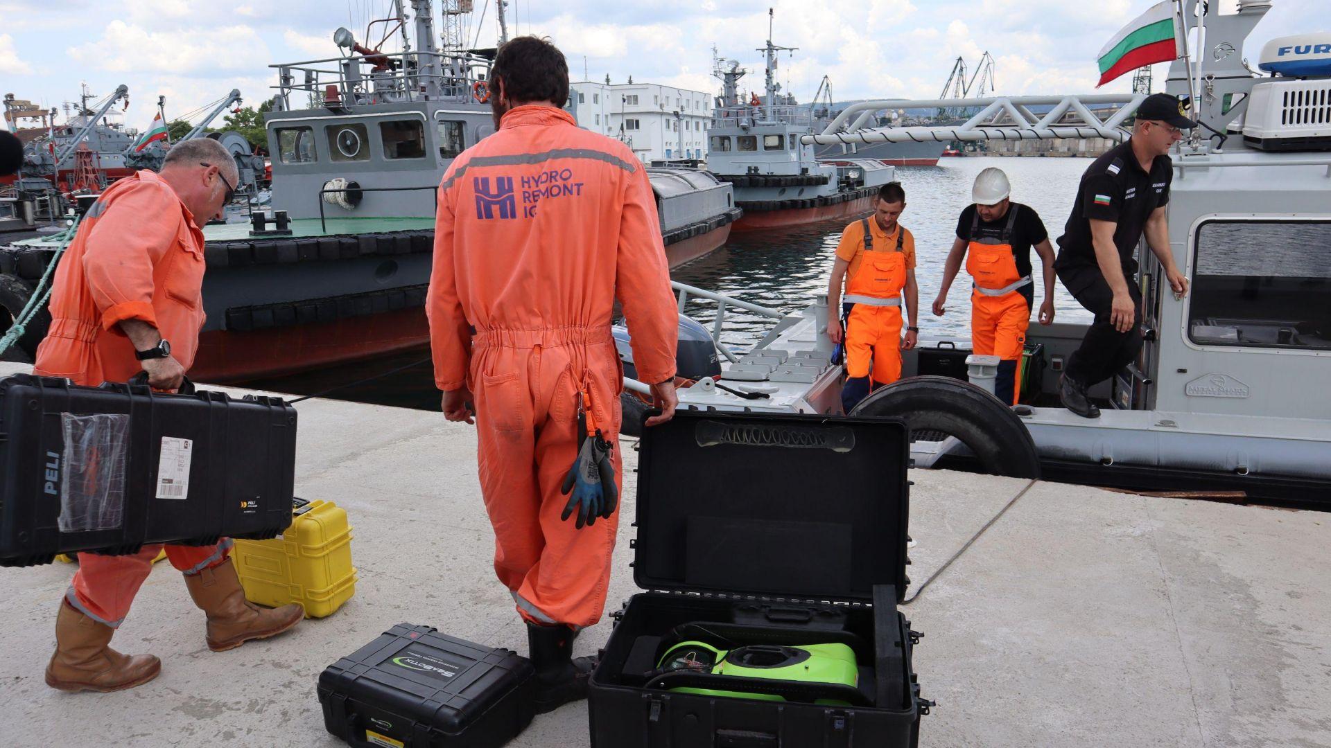 Военни търсят черната кутия на падналия МиГ-29 на 70 метра дълбочина в Черно море