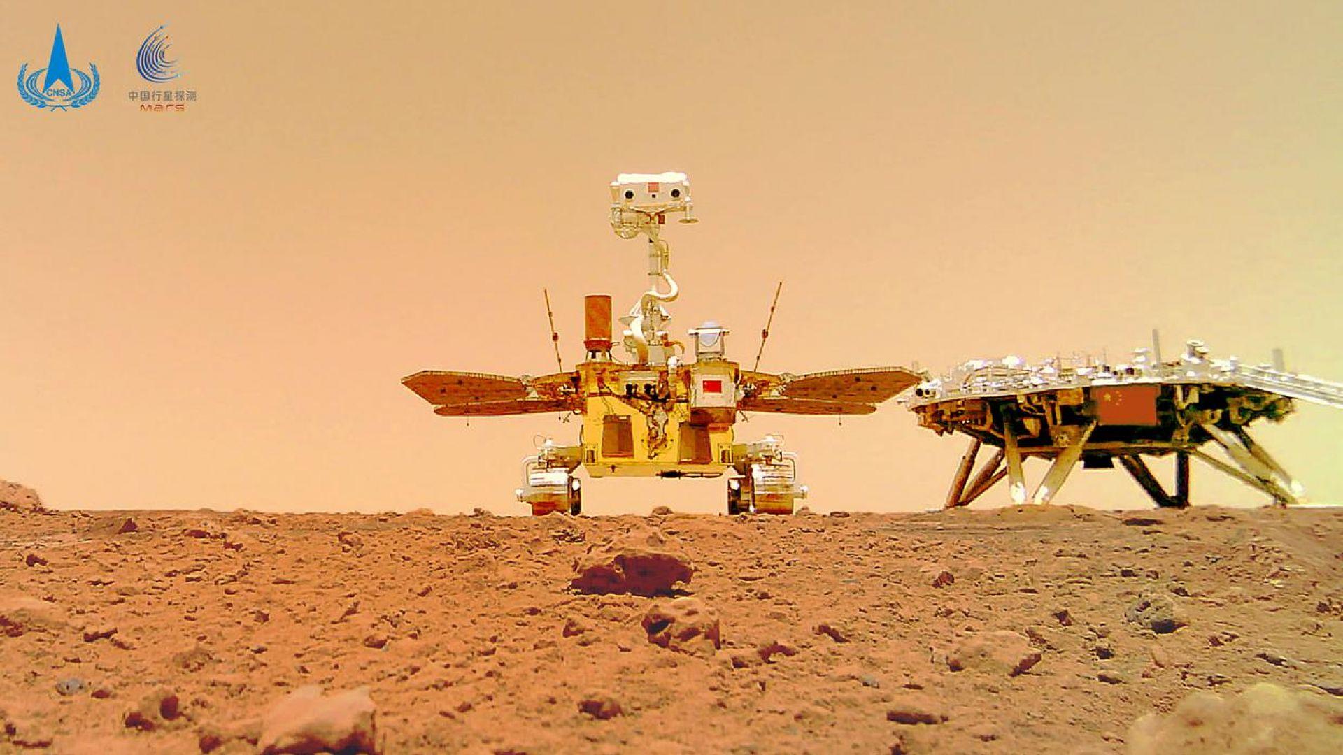 Китай е втората страна след САЩ със собствен роувър на Марс