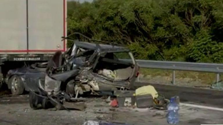 Катастрофа на 182 км на автомагистрала