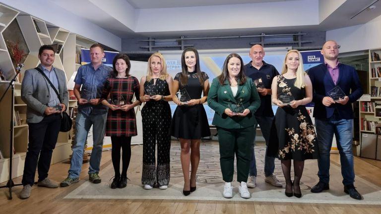 11 победители в различни категории отличи четвъртото издание на Web