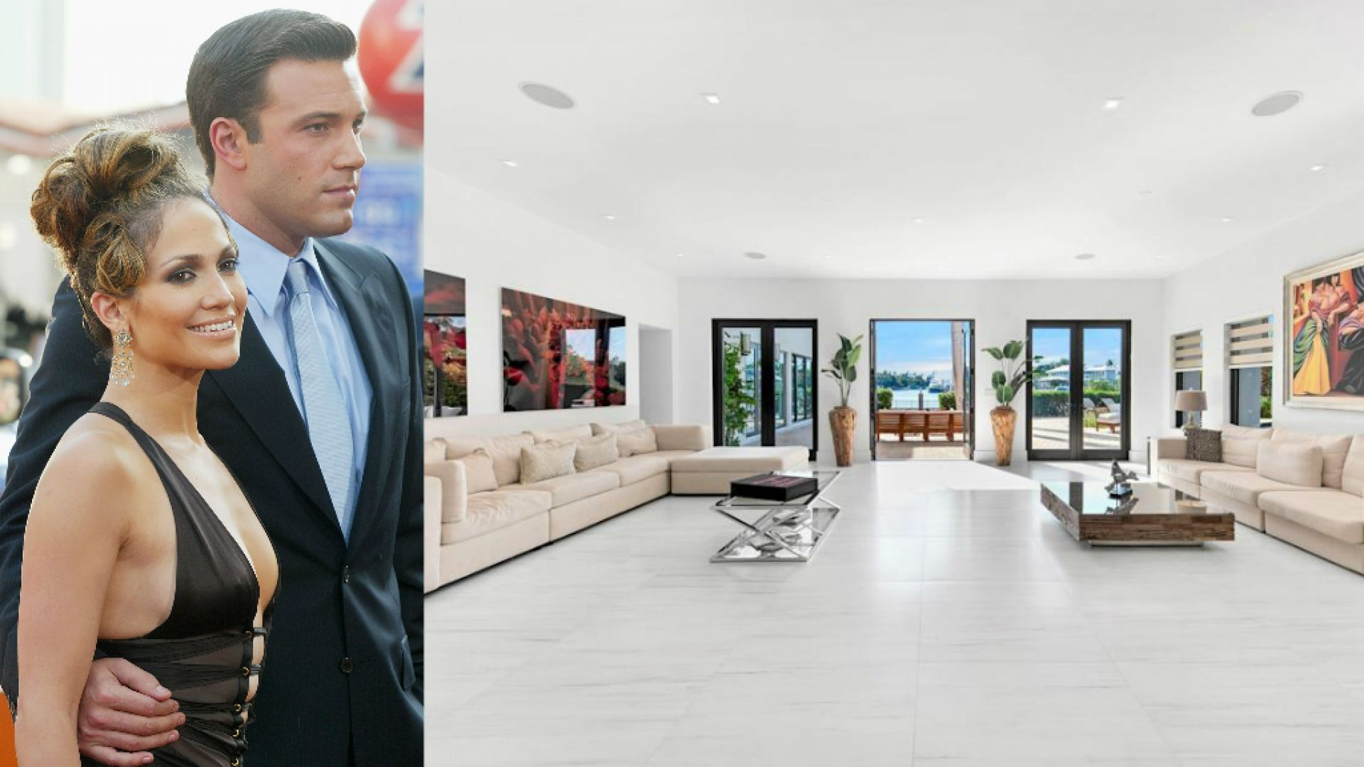 Вижте стилната къща с изчистен интериор, която Джей Ло и Бен Афлек наеха в Маями