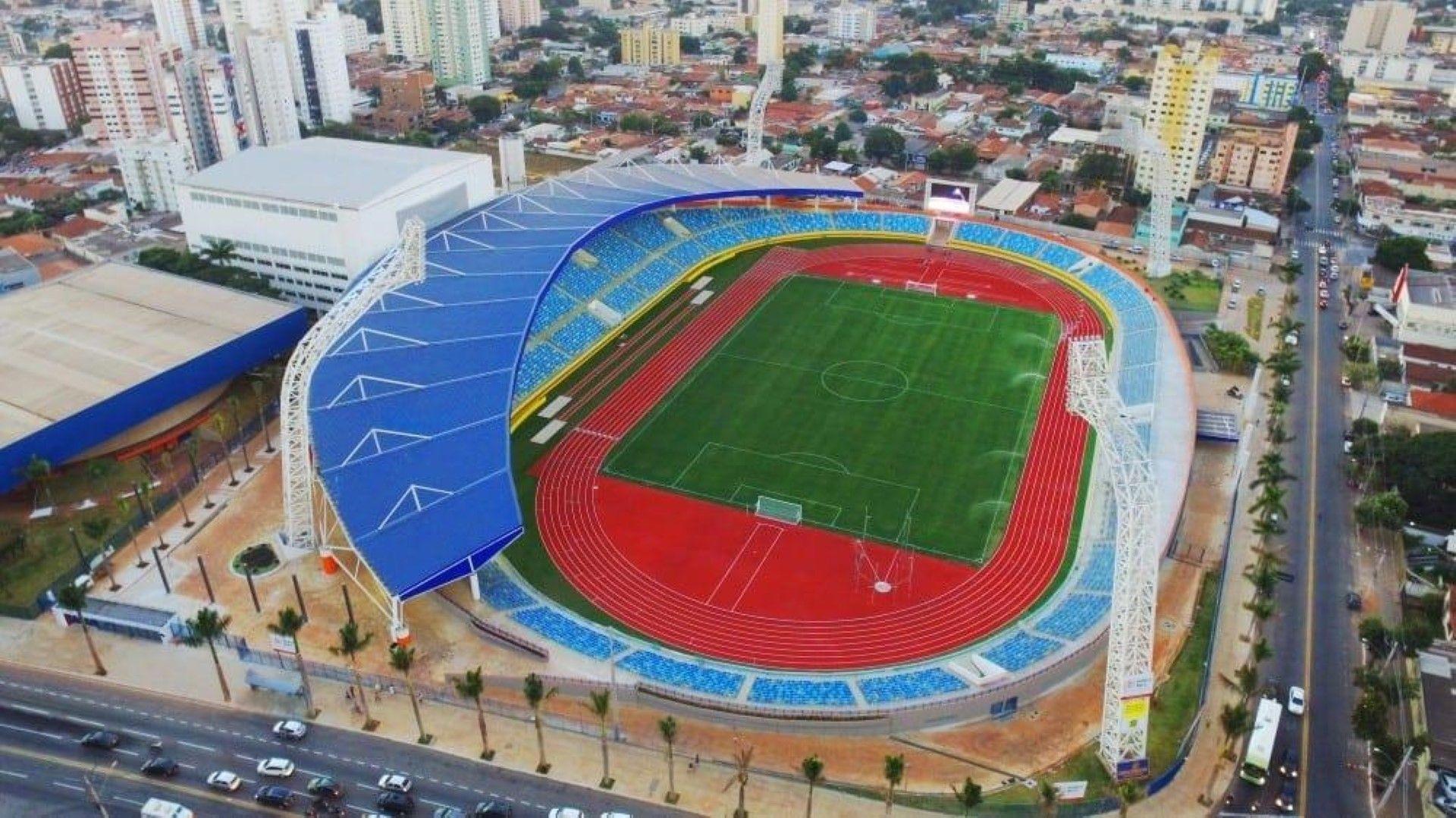 """Олимпийски стадион """"Педро Лудовико"""" в Гояниа. Тук ще се изиграят 7 срещи,"""