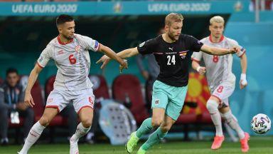 Австрия - Северна Македония 1:1, куриозен дебютен гол за съседите ни (на живо)