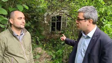 """ГЕРБ с акция """"на терен"""": Порутена къща е офис на бившата фирма на Румен Спецов (видео)"""