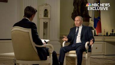 Путин пред NBC: Русия не убива политици, не е опитвала да убие и Навални