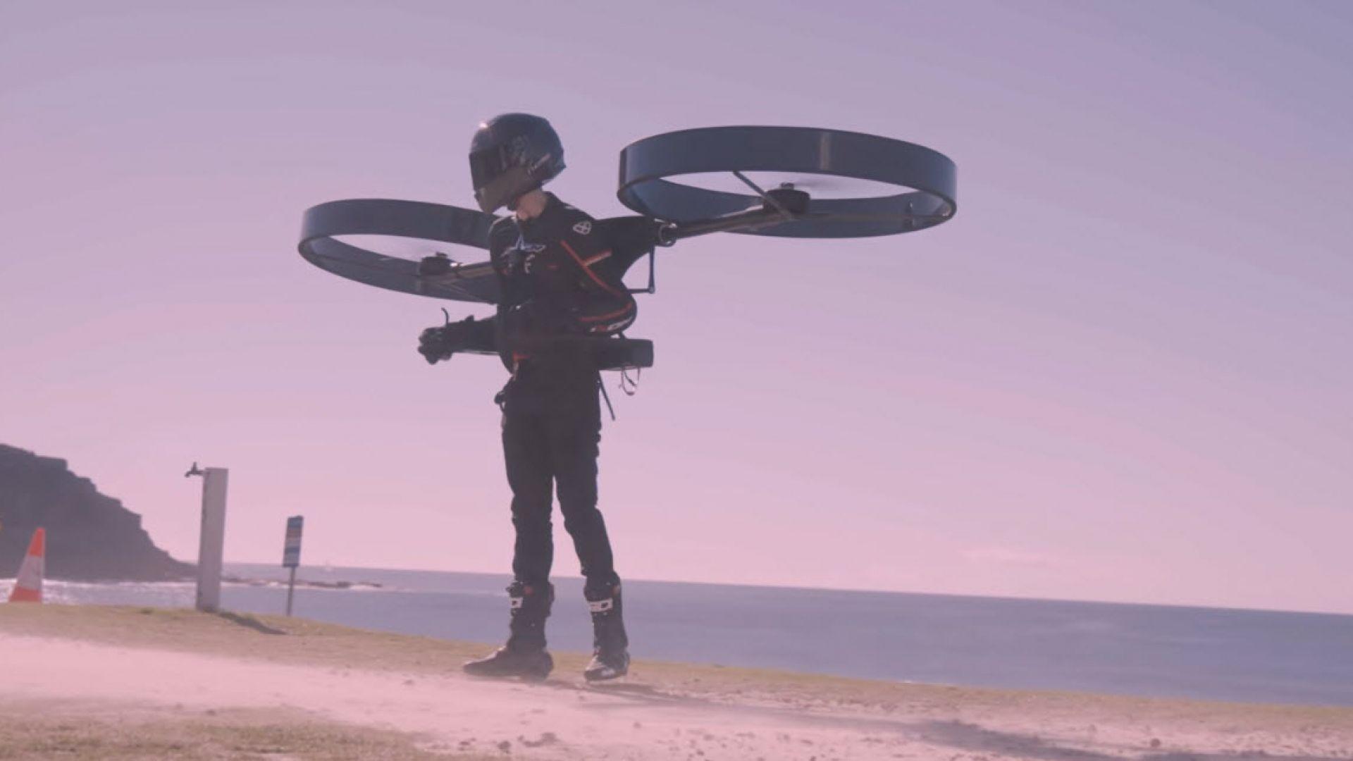 CopterPack превръща всеки човек в дрон
