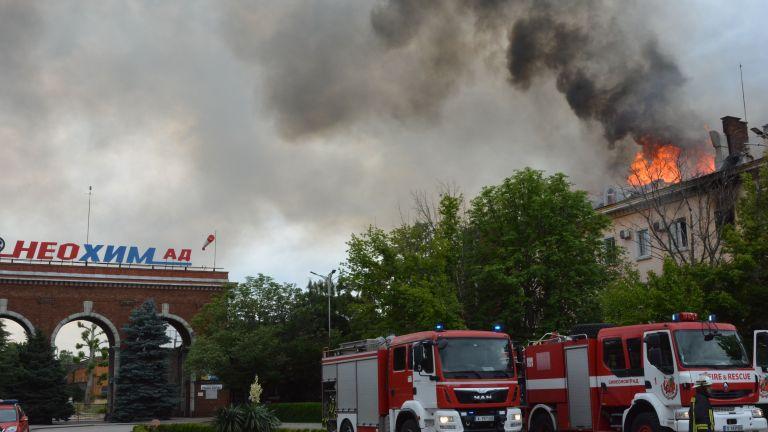 Пожар е възникнал в административна сграда на торовия завод