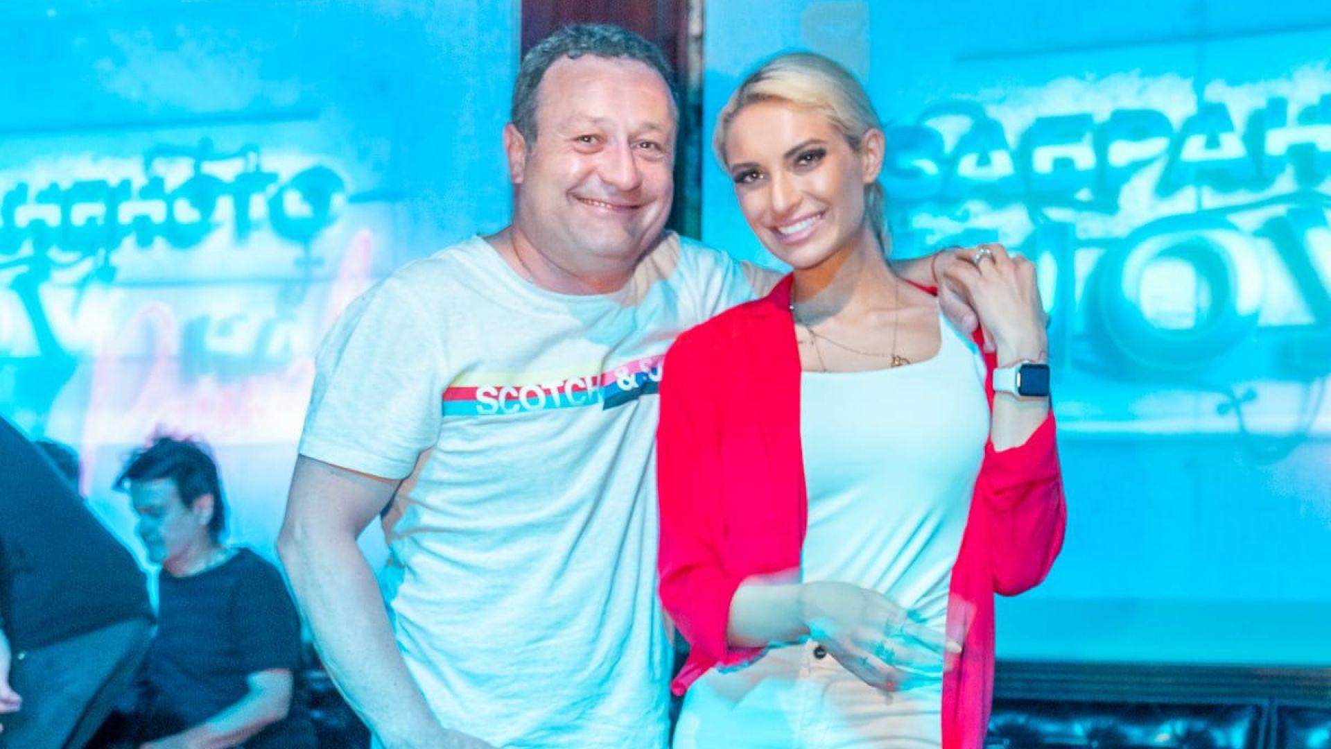 Половинката на Рачков отпразнува рождения си ден в клуба на Константин