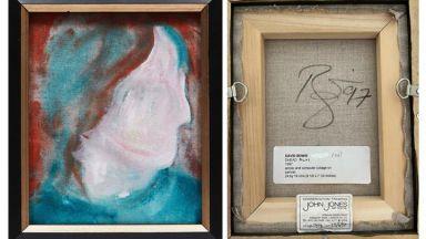 Картина на Дейвид Боуи, купена за 5 долара, се продава на търг в интернет