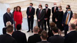 Радев обсъди с посланици санкциите на САЩ, политическата ситуация и диалога със Скопие
