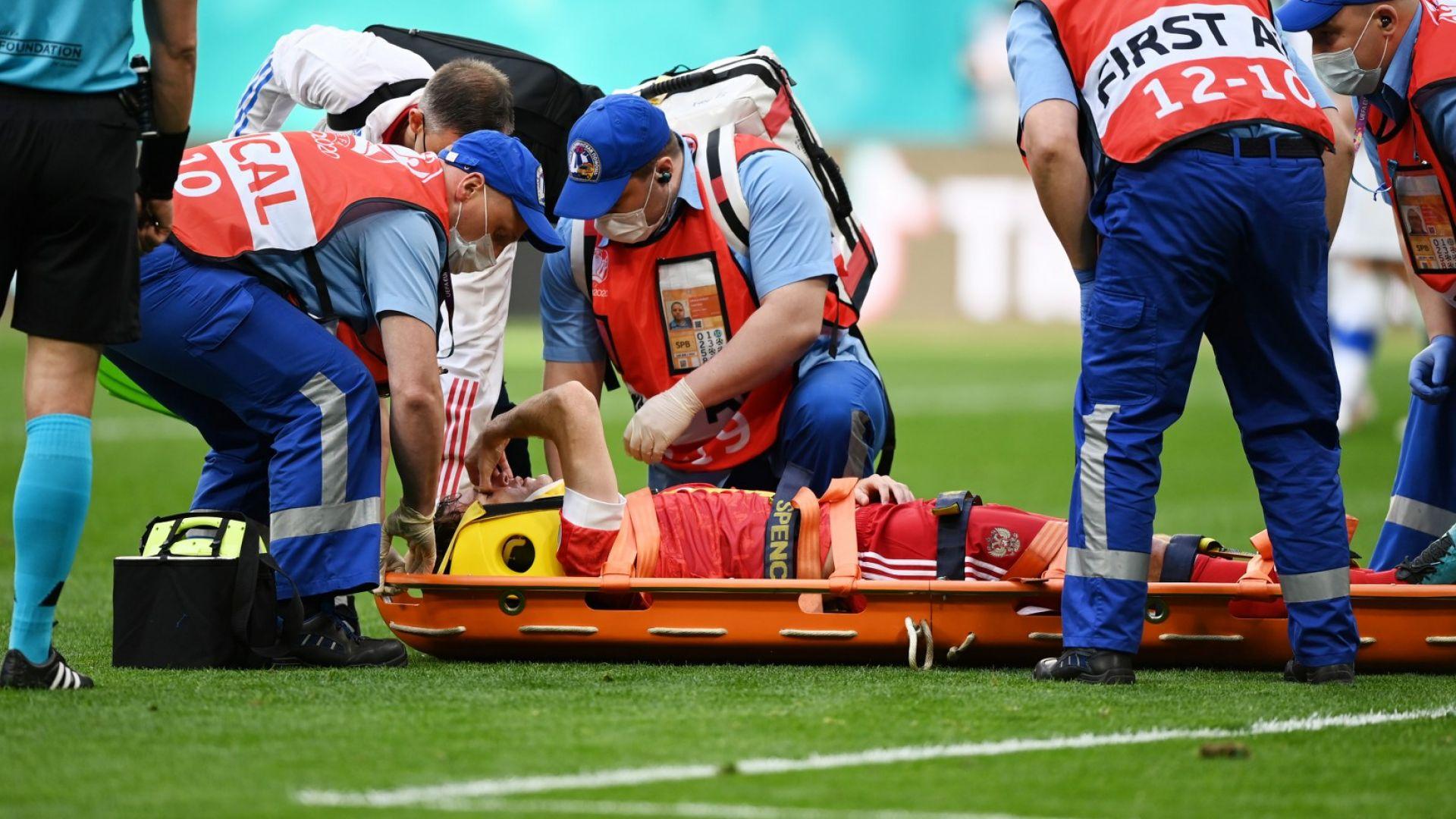 """Закараха играч на """"Сборная"""" в болница след тежка контузия"""
