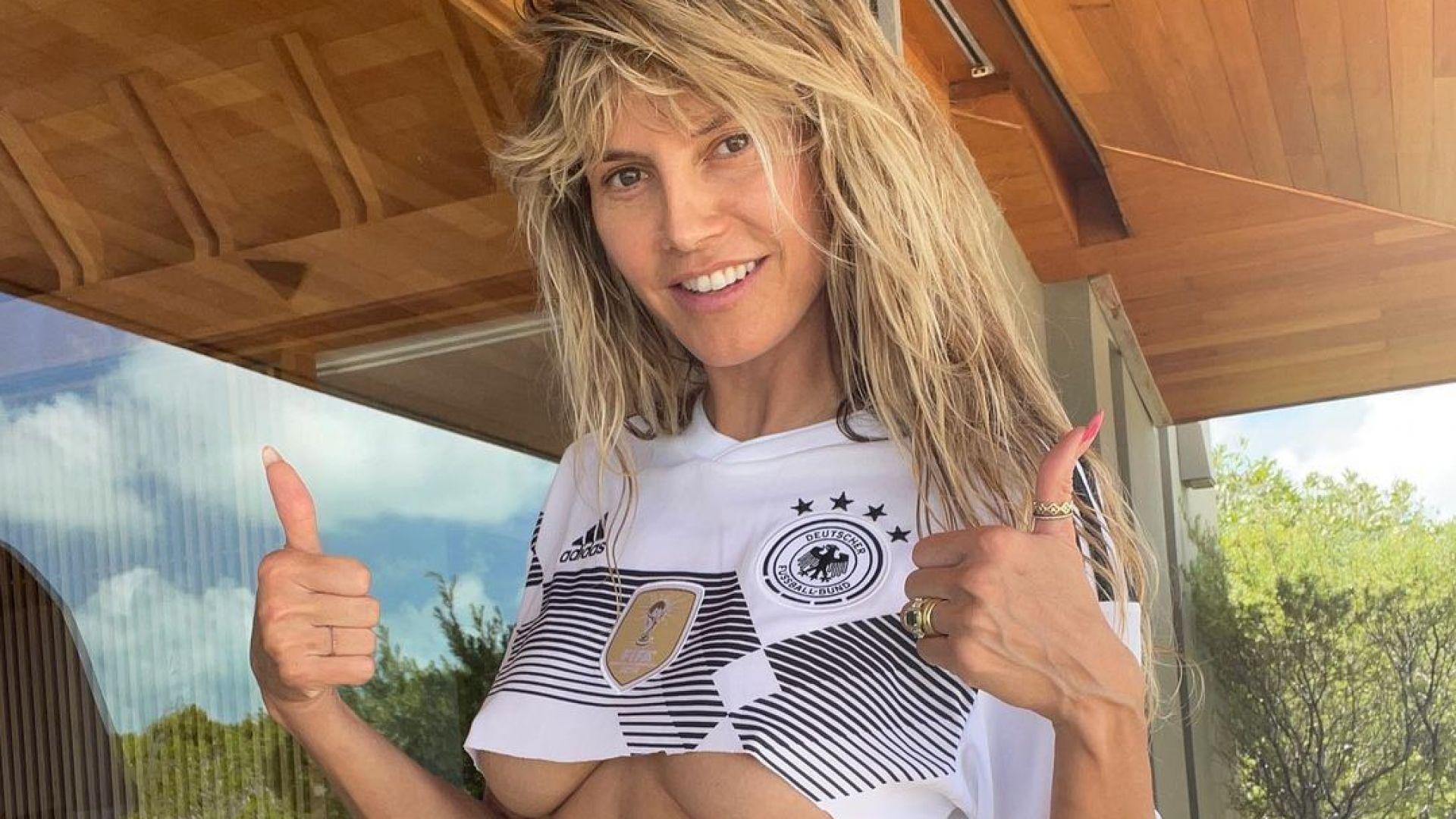 Въпреки загубата: Хайди Клум подкрепи отбора на Германия в UEFA Euro 2020 със секси кадър