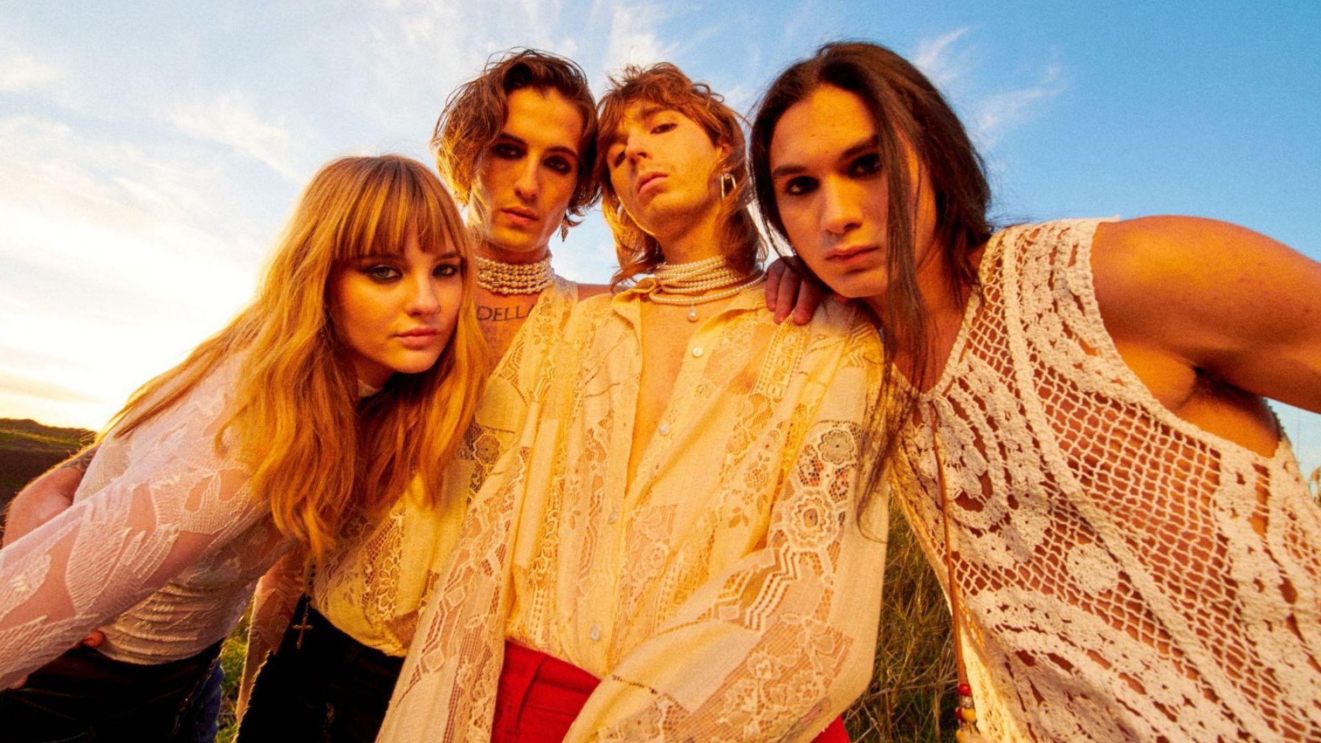 "Италианската рок група ""Манескин"", спечелила Евровизия, завладя TikTok с лайв концерт"