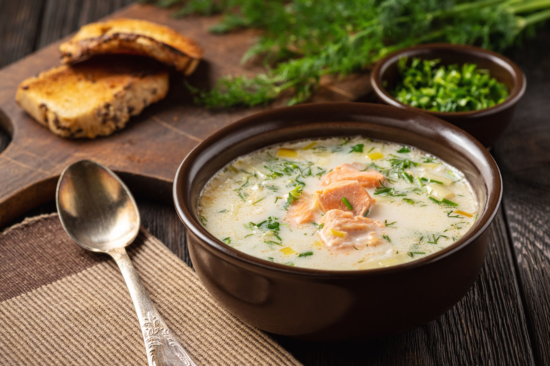 Крем супа от сьомга