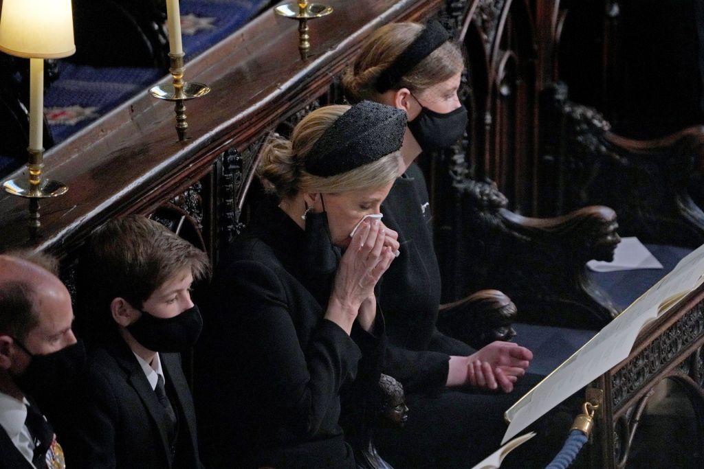 Софи на погребението на принц Филип