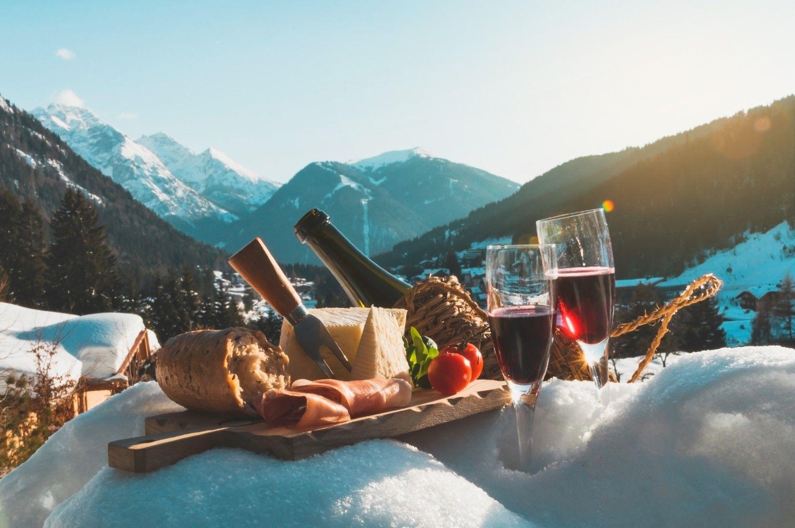 Пикник в снега
