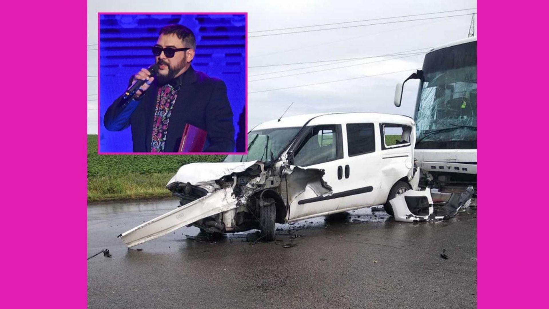 Устата оцеля по чудо, след като автобус смаза колата му (снимки)