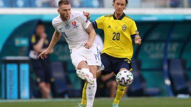 Евро 2020: Швеция - Словакия 0:0 (на живо)