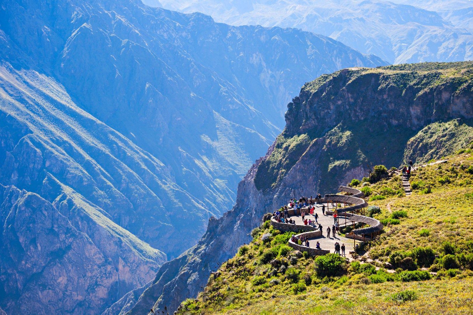 Наблюдателна площадка при каньона Колка, Перу