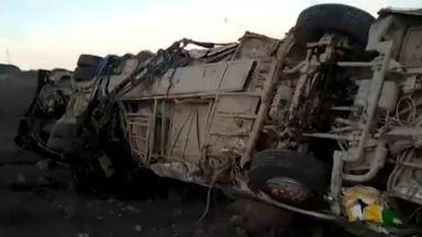 Жестока катастрофа в Перу отне живота на 27 миньори, прибиращи се от работа (снимки)