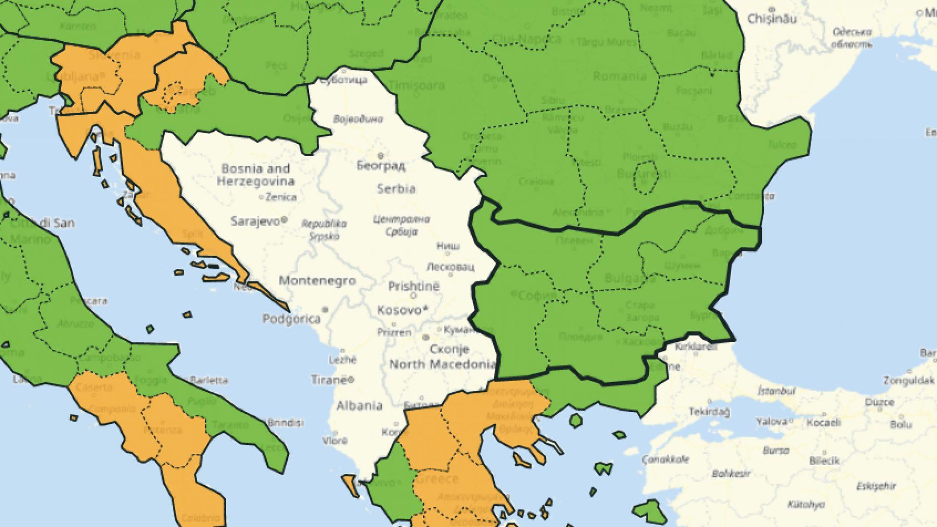 България вече е в зелената зона на COVID-19