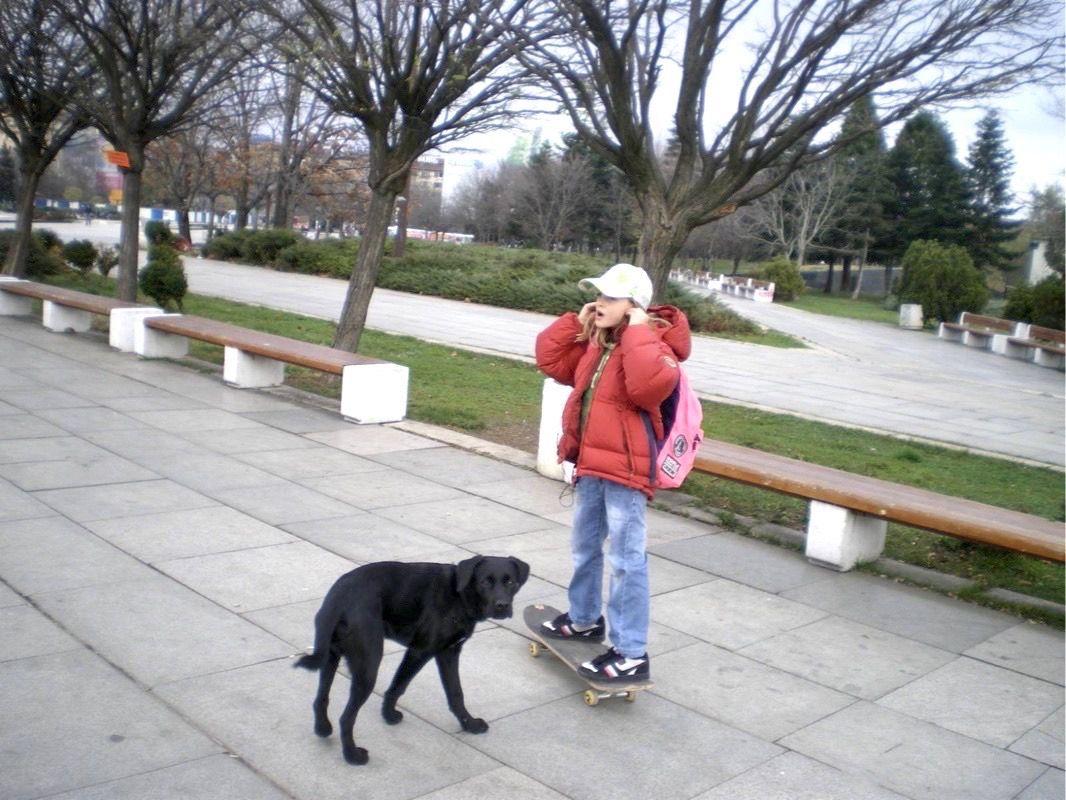 Али с първия си скейтборд