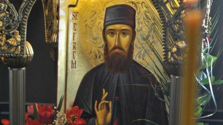 Иконата с чудотворните мощи на Свети Ефрем Нови ще бъде