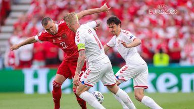 Евро 2020, екшънът в група В: Русия - Дания 0:0, Финландия - Белгия 0:0 (на живо)