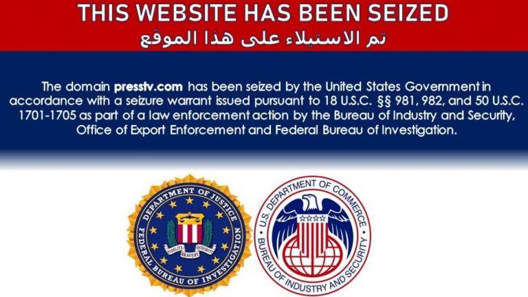 Уебсайтовете на иранските телевизионни канали и , както и на