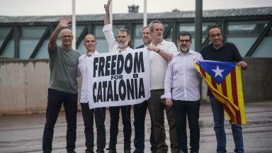 Помилваните каталунски сепаратисти излязоха от затвора (снимки и видео)