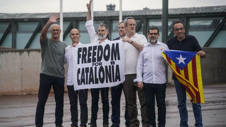 Помилваните каталунски сепаратисти, които излежаваха дълги затворнически присъди за ролята