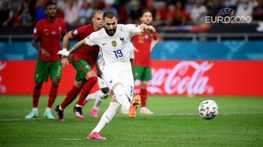Евро 2020, решаващи боеве: Португалия - Франция 2:2, Германия - Унгария 1:2 (на живо)