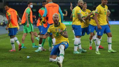 Спорен гол и 10 минути добавено време дойдоха на помощ на Бразилия