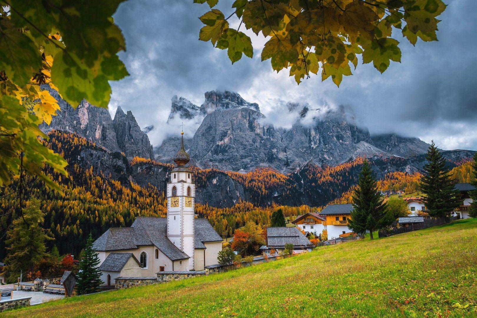 Село Колфоско и Доломитите