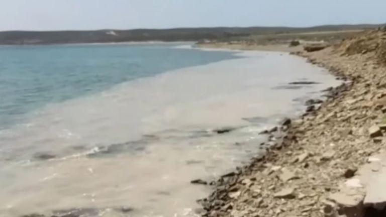 Морска слуз се е появила отново край гръцкия остров Лимнос