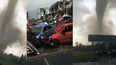 Торнадо опустоши Югоизточна Чехия, най-малко 5-има убити и много ранени (снимки/видео)