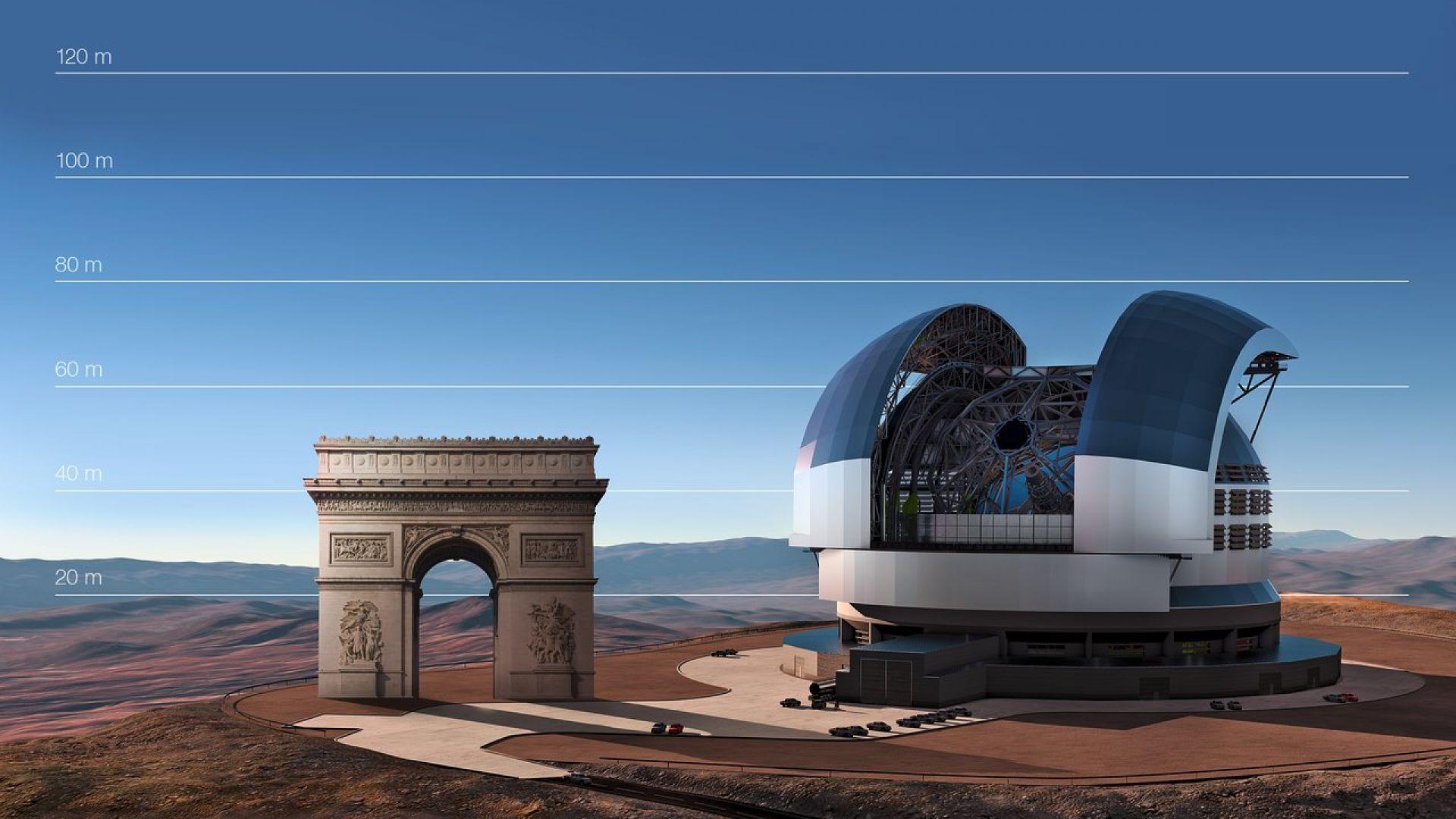 ELT ще бъде най-големият телескоп в света