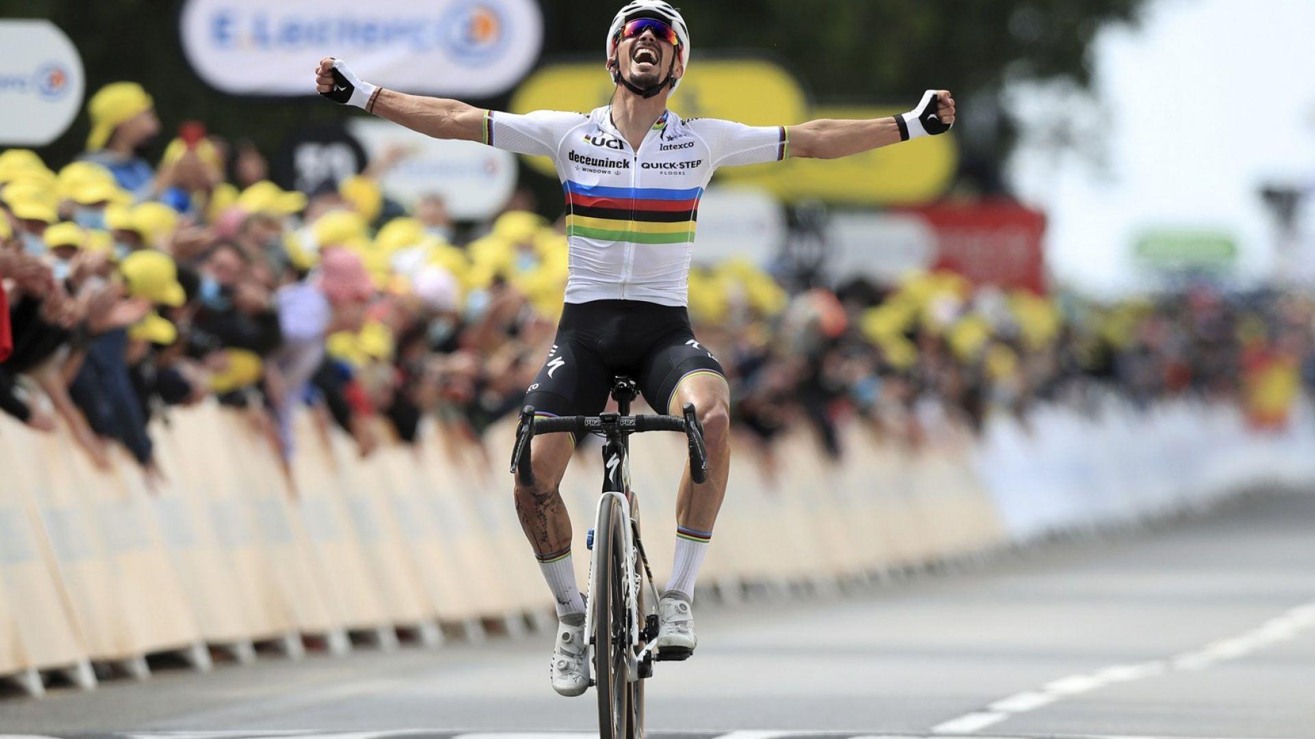 Две масови падания компрометираха първия етап на Тура