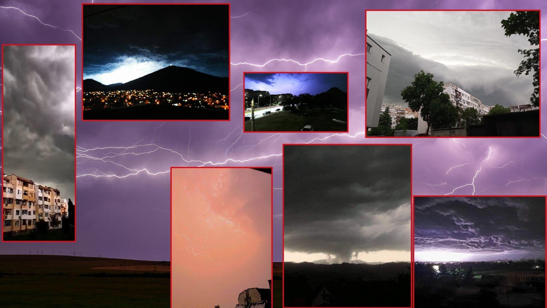 Бушуващите небеса над България в снимки и видео
