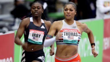 Американка с историческо бягане на 200 м по време на пресявките за Олимпиадата