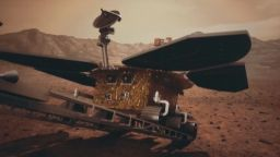 Видеокадри от Марс изпрати китайският роувър
